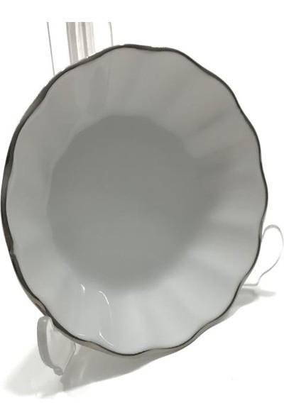 Porland Porselen 6'Lı 127912 Platin Çay Tabağı