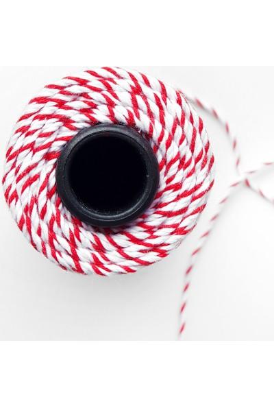 Funbou Paket Ipi, Kırmızı-Beyaz 100 Metre