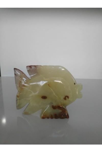 Mi̇mart Stone Balik 15 cm Mermer Dekor