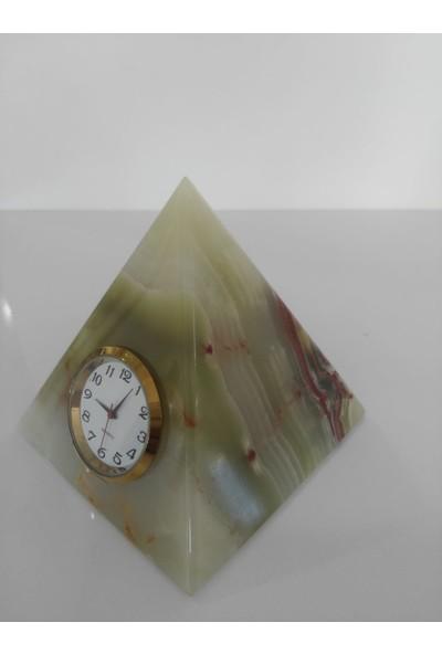 Mi̇mart Stone Pi̇rami̇t Saat 7.5 cm Mermer Dekor