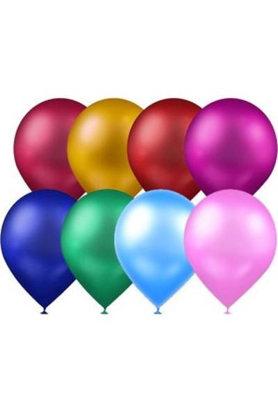 Atom Balon Atom Balon Metalik Karışık Renkli Balon 12 Inç 100 Adet