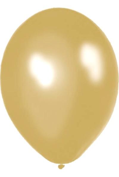 Atom Balon Atom 12 İnç Metalik Gold Altın Balon - 100 Adet
