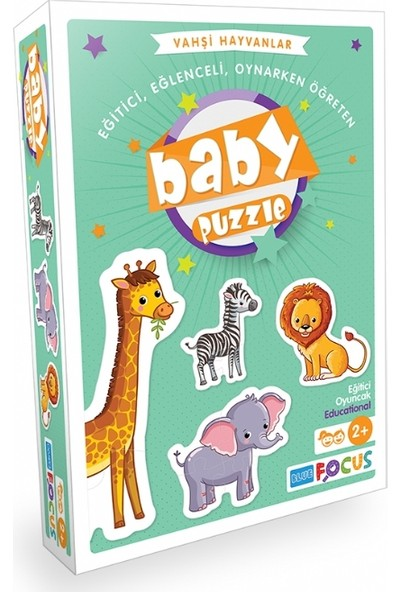 Blue Focus Vahşi Hayvanlar Baby Puzzle