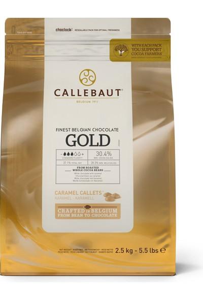 Callebaut Gold Karamelli Damla Çikolata (2.5 kg)