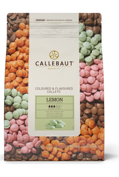 Callebaut Limonlu Damla Çikolata (2.5 kg)