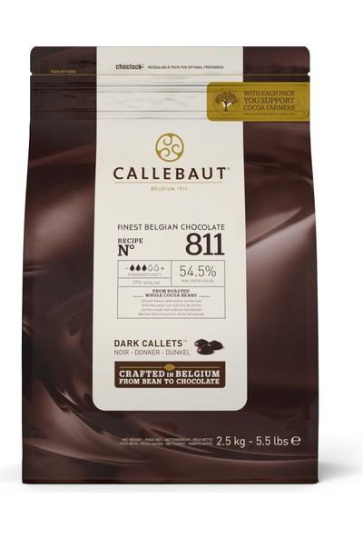 Callebaut Bitter Damla Çikolata 811 (2.5 kg)