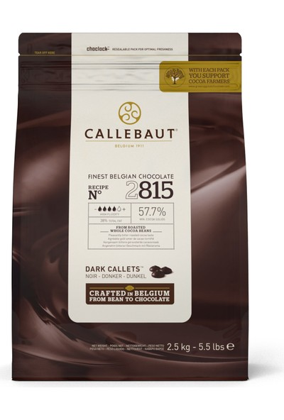 Callebaut Bitter Pul Çikolata 2815 (2.5 kg)