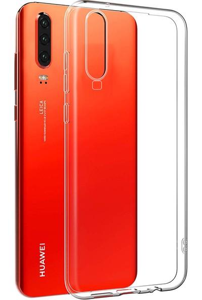 Case 4U Huawei P30 Kılıf Süper Silikon Arka Kapak Şeffaf