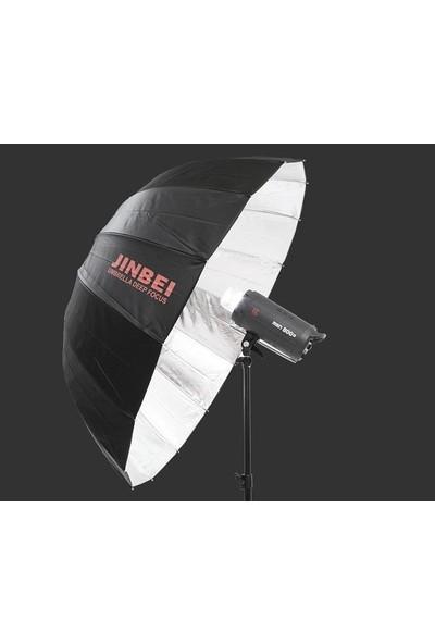 Jinbei Deep Focus 105Cm Siyah & Gümüş (Dış Diffuser Bezli) Şemsiye