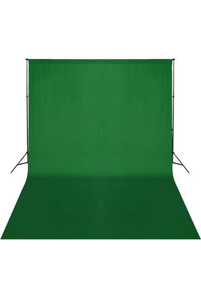 Jinbei Greenbox Yeşil Fon Perdesi 3Mx6M Ve Jinbei Jb11-3200 Fon Standı Kıt