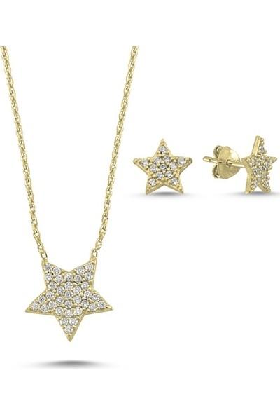Angemiel 925 Gümüş Zirkon Taşlı Yıldız Set