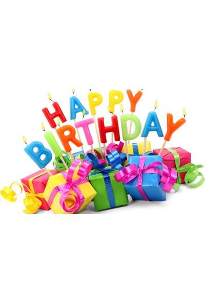 Happyland Doğum Günü Happy Birthday Mum Renkli Pasta Mumu