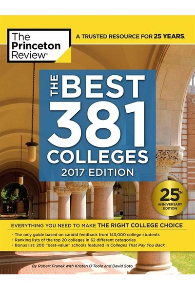 The Best 381 Colleges: 2017 Edition