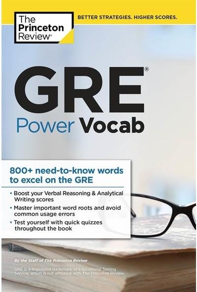 Gre Power Vocab - Princeton Review Staff