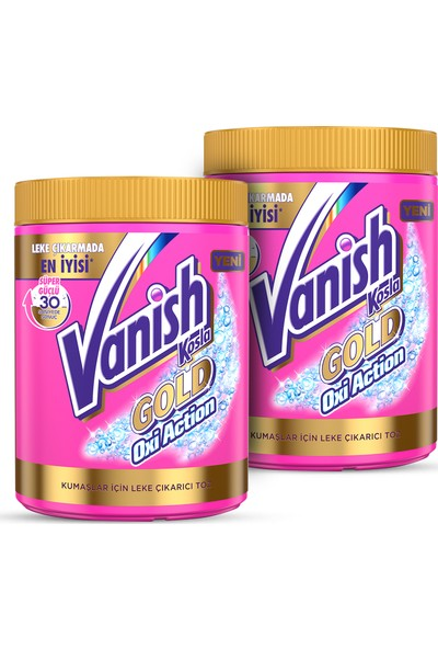 Vanish Kosla Oxi Action Pembe Gold 1200 gr x 2 Adet