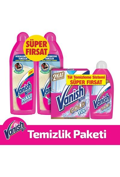 Vanish Kosla Tül Toz 450 gr + Vanish Kosla Tül Parlatıcı 450 ml + Vanish Halı Şampuanı Makine 2'li