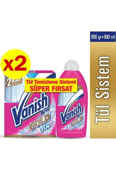 Vanish Kosla Tül Toz 450 gr x 2 Adet + Vanish Kosla Tül Parlatıcı 450 ml x 2 Adet