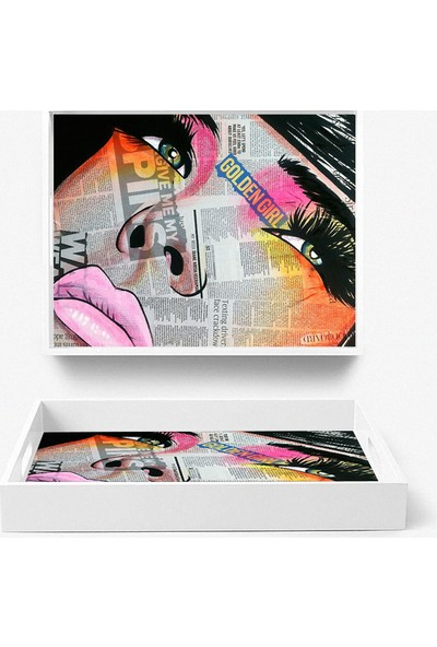 Artua By Foresta Concept MDF Tepsi Tablo ART286