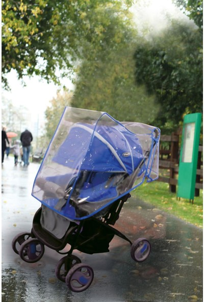 Alas Bebek Arabası Yağmurluğu Mavi
