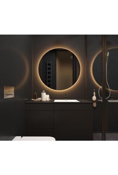 Ayna Fabrikası Sphere Dekoratif Füme Ayna LED Aydınlatmalı 80 Çapında