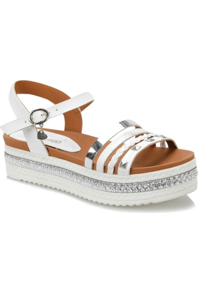 Butigo 19S-118 Beyaz Kadın Sandalet