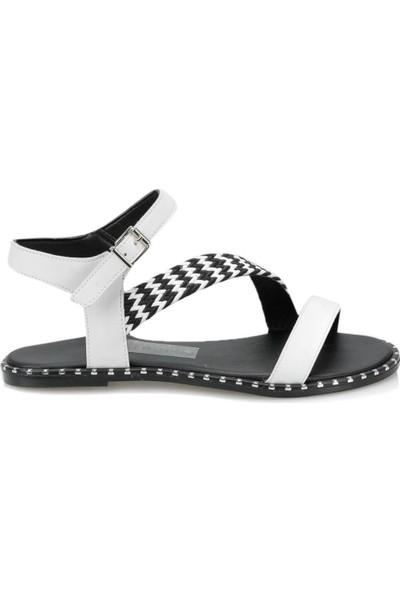 Butigo Ds19078 Beyaz Kadın Sandalet