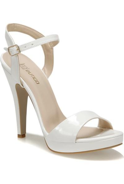 Butigo Terra01Z Cilt Beyaz Kadın Sandalet