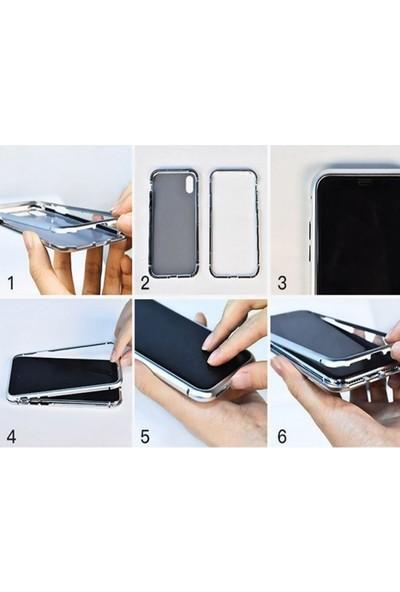Casestore Apple iPhone 8 Plus Metalink Ultra Lüx Mıknatıslı 360 Kılıf Siyah