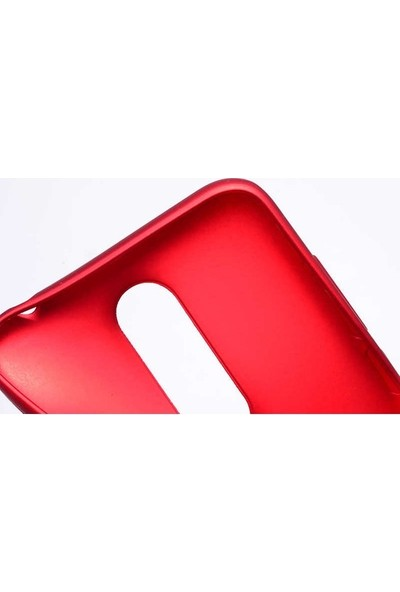 Casestore Xiaomi Mi 8 SE Yumuşak Mat Esnek Silikon Kılıf Kırmızı + Nano Ekran Koruyucu