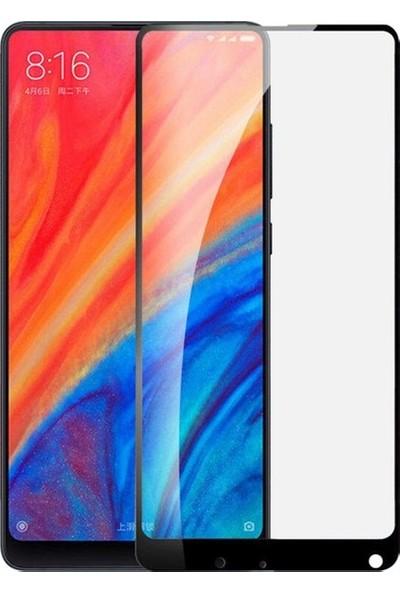 Casestore Xiaomi Mi Mix 2S Ultra Lüx Tam Kaplayan 3D Ekran Koruyucu Cam Siyah + Şeffaf Silikon Kılıf