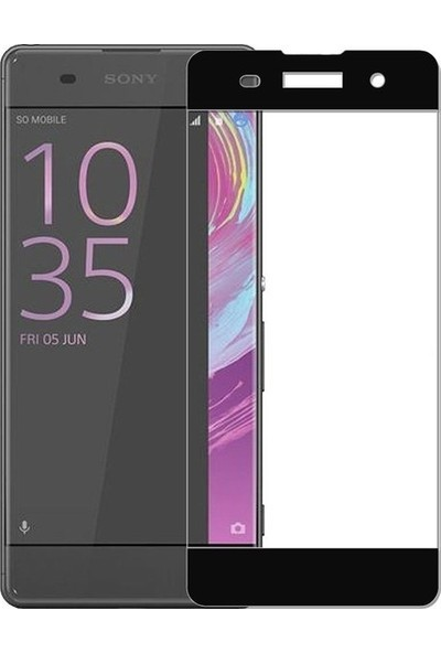 Casestore Sony Xperia XA2 Ultra Lüx Tam Kaplayan 3D Ekran Koruyucu Cam Siyah + Şeffaf Silikon Kılıf
