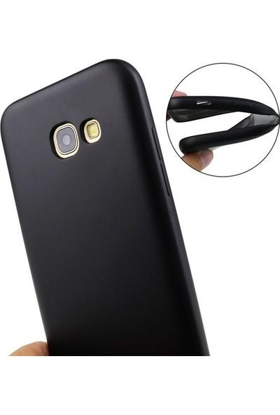 Casestore Huawei P9 Lite 2017 Ultra Lüx Tam Kaplayan 3D Ekran Koruyucu Cam Siyah + Siyah Silikon Kılıf
