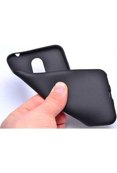 Casestore Huawei Y5 2018 Ultra Lüx Tam Kaplayan 3D Ekran Koruyucu Cam Siyah + Siyah Silikon Kılıf