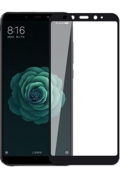 Casestore Xiaomi Mi 6X Ultra Lüx Tam Kaplayan 3D Ekran Koruyucu Cam Siyah + Deri Silikon Kılıf