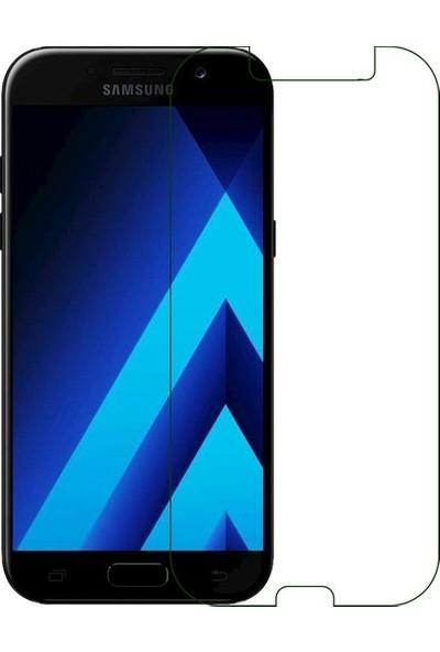 Casestore Samsung Galaxy J7 Pro Nano Ekran Koruyucu Cam Şeffaf + Şeffaf Silikon Kılıf