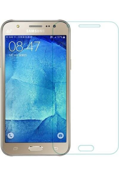 Casestore Samsung Galaxy J7 Core Nano Ekran Koruyucu Cam Şeffaf + Şeffaf Silikon Kılıf