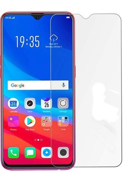 Casestore Oppo AX7 Nano Ekran Koruyucu Cam Şeffaf + Şeffaf Silikon Kılıf