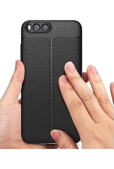 Casestore Huawei Y7 2019 5D Full Nano Ekran Koruyucu Cam Siyah + Deri Silikon Kılıf