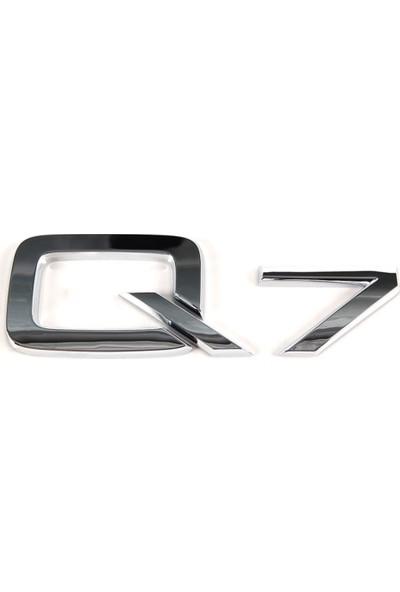 Audi̇ Q7 Arka Bagaj Yazısı Krom
