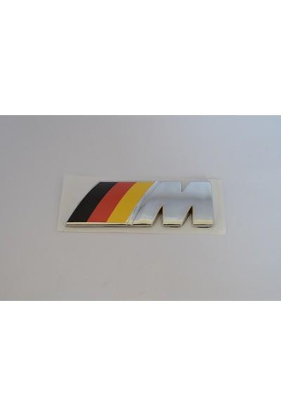 Bmw M Yazı Kücük Almanya Bayraklı) Arka Bagaj Yazısı Arması