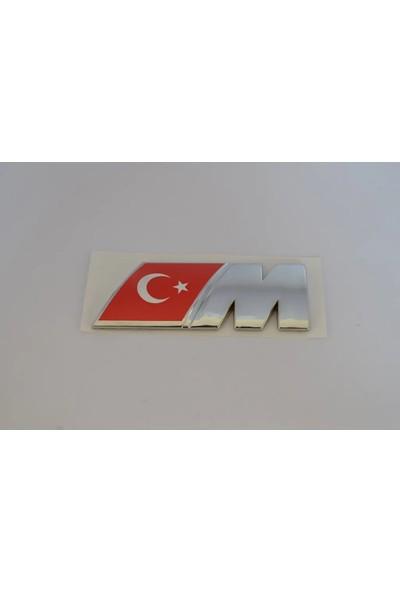 Bmw M Yazı Kücük Türk Bayraklı Arka Bagaj Yazısı Arması