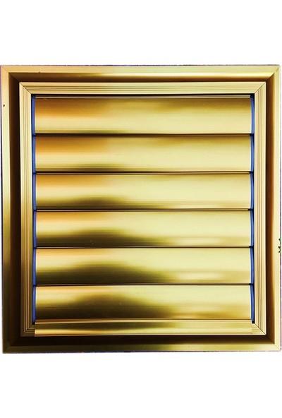 Panjur Dünyası 45 X 45 Alüminyum Kolsuz Altın Banyo Wc Panjur Ve Menfezi