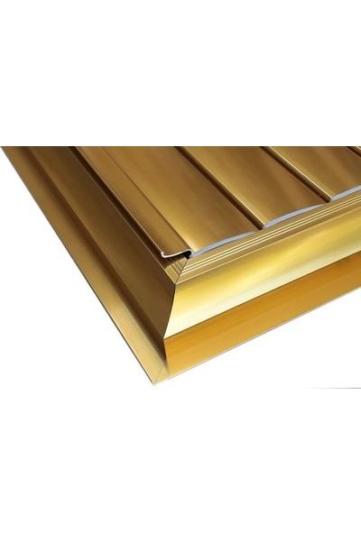 Panjur Dünyası 55 X 55 Alüminyum Kolsuz Altın Banyo Wc Panjur Ve Menfezi