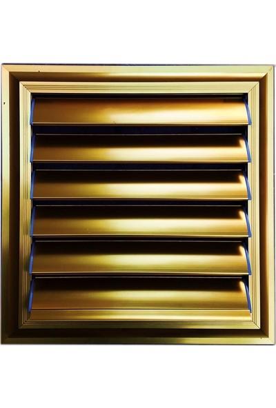 Panjur Dünyası 40 X 45 Alüminyum Kolsuz Altın Banyo Wc Panjur Ve Menfezi