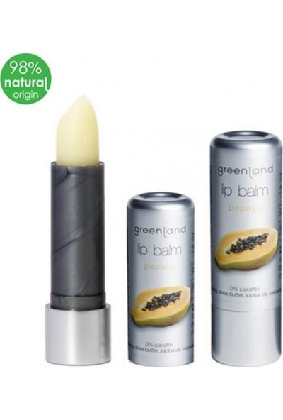 Greenland Lip Balm Parabensiz ve Parafinsiz Dudak Kremi Papaya Lipstick 3.9 G