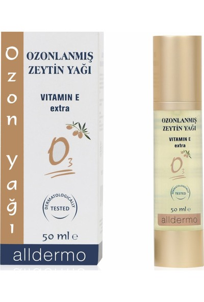 Alldermo Ozonlanmış Zeytinyağı Ozon Yağı 50 ml