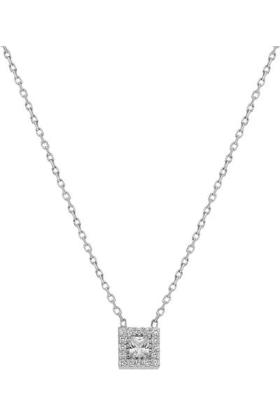 Glorria DT0567 Gümüş Tektaş Kolye
