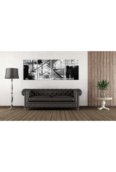 Meteor Galeri Siyah Beyaz Çizgilerden Oluşan Sanatsal Kanvas Tablo