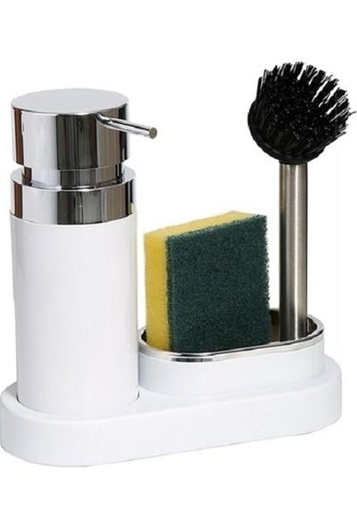 Primanova Polen Sıvı Sabunluk Seti Beyaz
