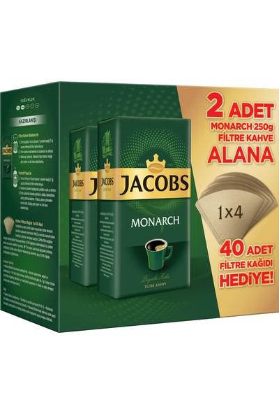 Jacobs Filtre Kahve 250 gr X 2 2' li + Filtre Kağıdı Hediyeli
